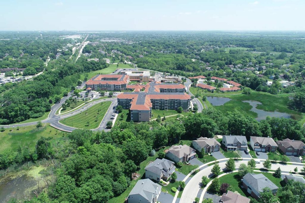 The Oaks at Bartlett   Western aerial view