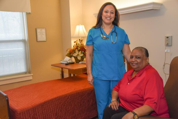 The Oaks at Bartlett | Nurse with Resident